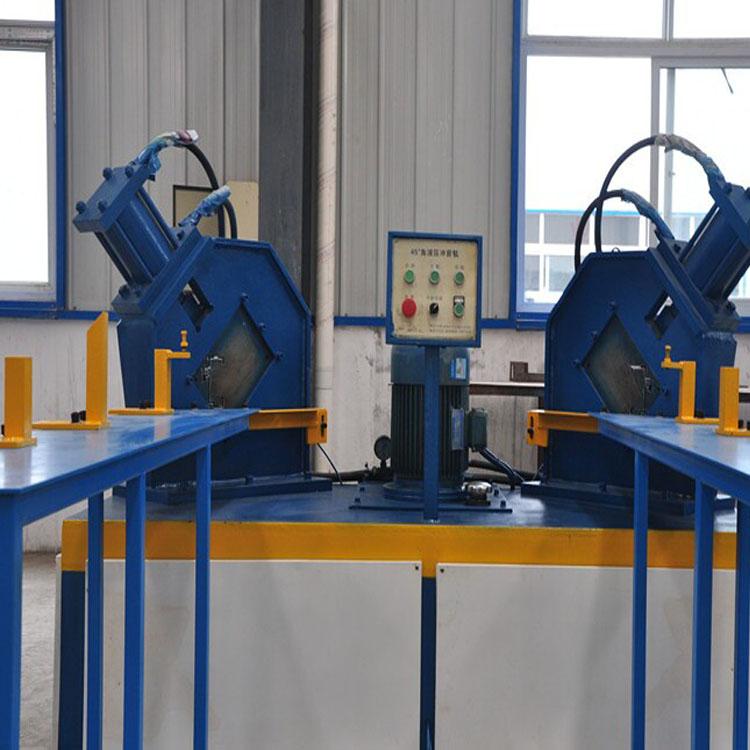 45度液压冲剪机,门框45度角液压冲剪机及效果图